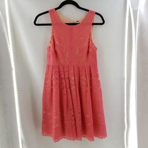 FREE PEOPLE Rocco Open Back Cherry Coral Dress Sz4